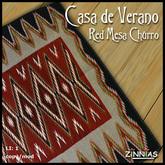 *Zinnias* Casa de Verano Red Mesa Churro Rug
