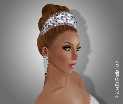FaiRodis Flower Song tiara FOR Regina hair white
