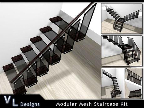 Stairs - Modular Mesh Staircase Kit