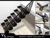 Stairs - Modular Mesh Staircase Kit - Full Perm Builders Edition