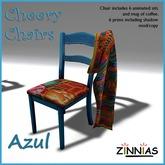 *Zinnias* Cheery Chair in Azul