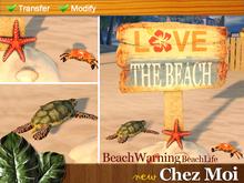 Warning Sign BeachLife ♥ NEW Chez Moi