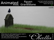 (Challis) Animated Raven On A Grave (BOXED) (MC)