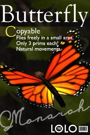COPYABLE Free-flying Butterfly - Monarch
