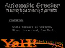 Greeter Automatic Giver