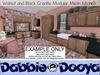 Dabble dooya walnut and black granite kitchen 2