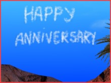 Clouds Writing - Happy Anniversary