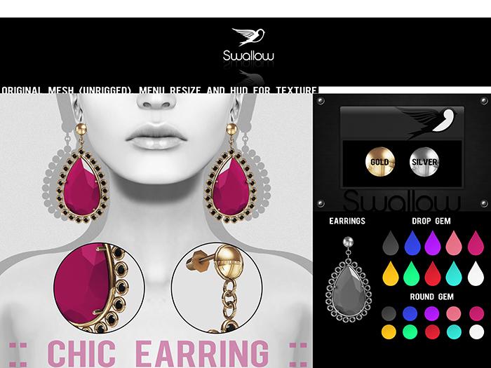 GIFT ^^Swallow^^ Chic Earrings