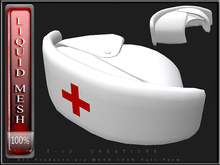 T-3D Creations [ LQ Mesh - Nurse Hat  ] LIQUID MESH with Non Rigged Mesh - Full Perm -