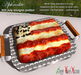 Aphrodite 4th July party- American Independence day food: USA flag lasagna