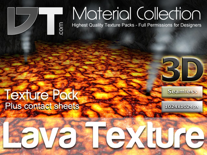 Realistic Lava Texture - Full Perm - DT Material Collection