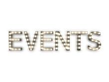 "[Px] ""EVENTS"" Illuminated Light Bulbs Sign"