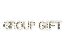"[Px] ""GROUP GIFT"" Illuminated Light Bulbs Sign"