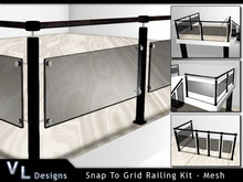 Snap To Grid Glass Railing Kit - Full Perm Builders Edition
