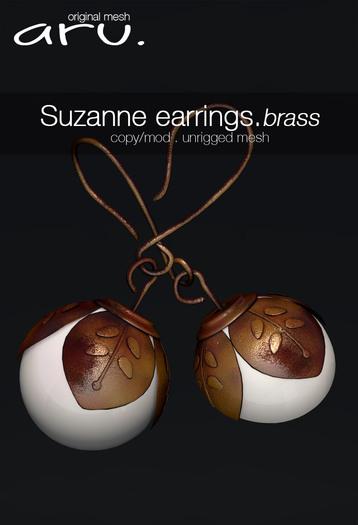 aru. Suzanne earrings (Brass)