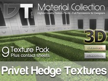 9 Privet Hedge Textures - Full Perm - DT Material Collection