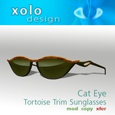 XOLO cat eye sunglasses tortoise