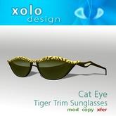 XOLO cat eye sunglasses tiger