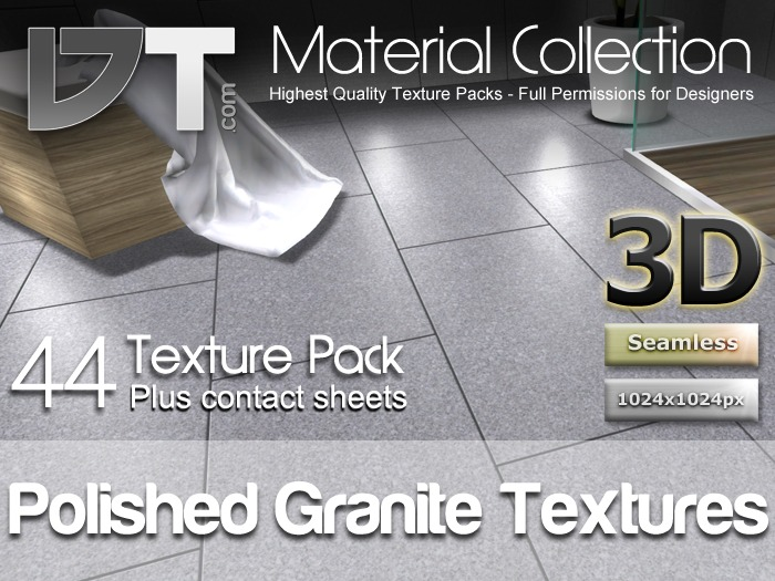 44 Polished Granite Floor Textures - Full Perm - DT Material Collection