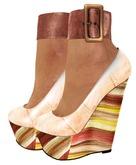 ALB CHANDRA wedge heel mesh 11 yellow with skin HUD by AnaLee Balut