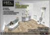 [L&T] - Victorian Bathroom Set (5 pieces, 17 HQ Animations, Low Prim, 3D Realistic Design)