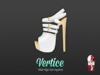 [ Vertice ] White - (SLINK) High Heeled Ankle Sandals