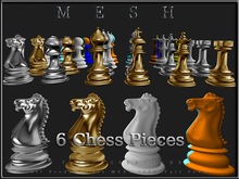 T-3D Creations [ Chess Pieces ] - 6 Chess Pieces - Micro Size - Full Perm -