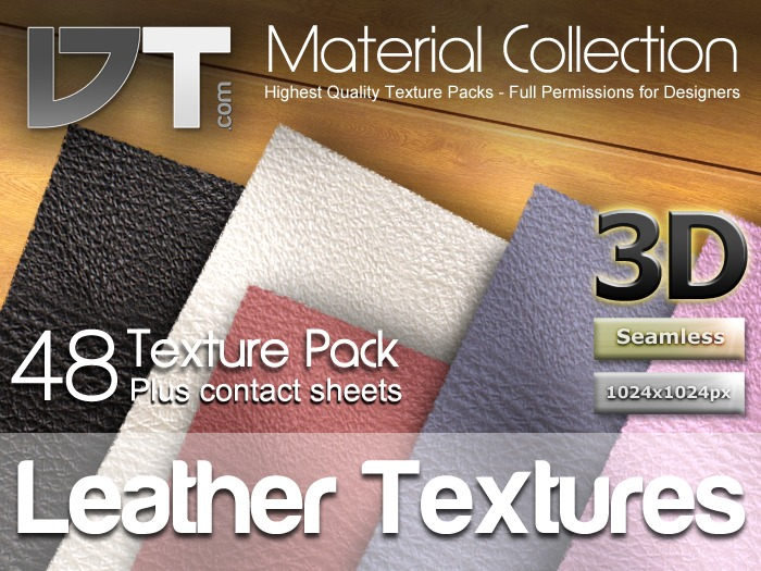 48 Leather Textures - Full Perm - DT Material Collection