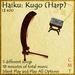 Haiku: Kugo (harp) Instrument