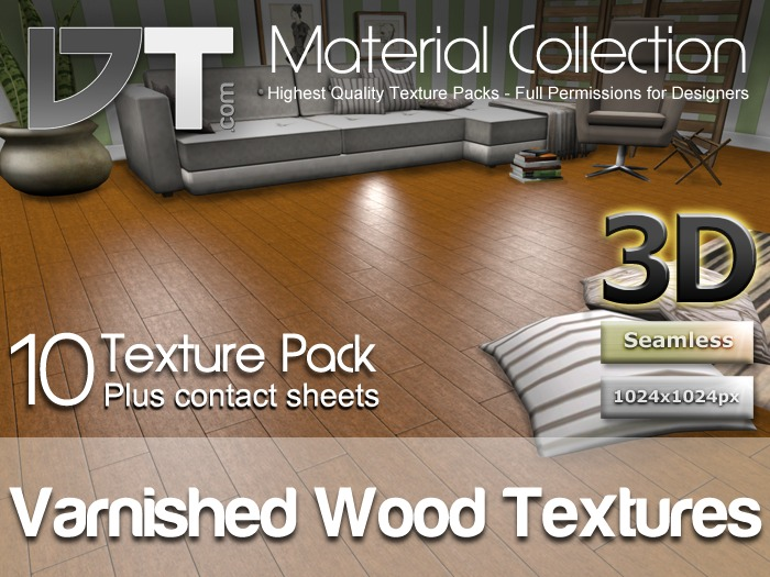 10 Varnished Wood Floor Textures - Full Perm - DT Material Collection