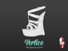 [ Vertice ] White Leather - (SLINK) Wedge Sandals