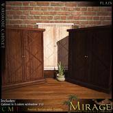 =Mirage= Wardrobe Cabinet - Blue