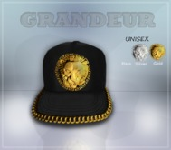 !Grandeur! Black King Strapback