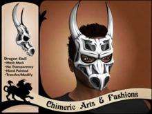 Dragon Skull Mask (White)