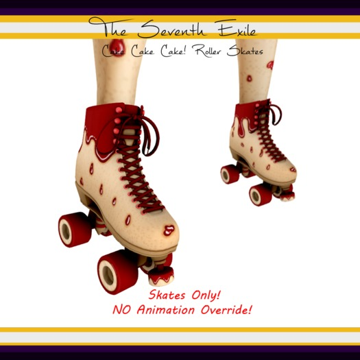 The Seventh Exile: Cake Cake Cake! Roller Skates - Cherry