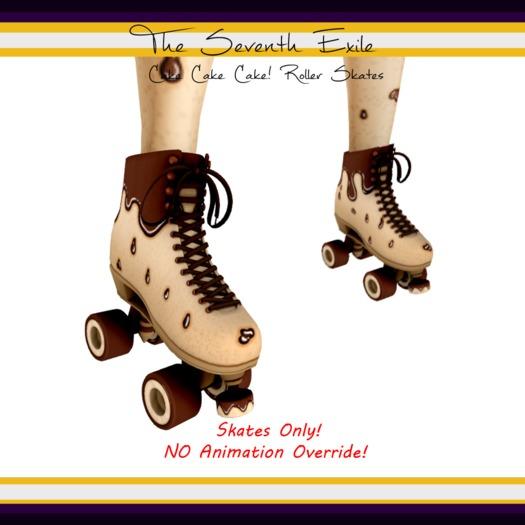 The Seventh Exile: Cake Cake Cake! Roller Skates - Chocolate