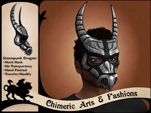 Steampunk Dragon Mask (Steel)