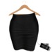 BLOKC High Waisted Mini Pencil - Black MESH
