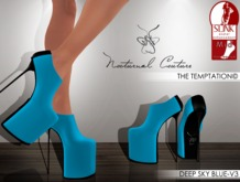 NC : The Temptation -DEEP SKY BLUE-V3 Slink MID Heels