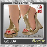Bacio Mesh GOLDA Slink High Sandale BOX