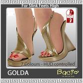 Bacio Mesh DEMO GOLDA Slink High Sandale BOX