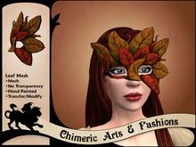 Leaf Mask (Brown & Red)