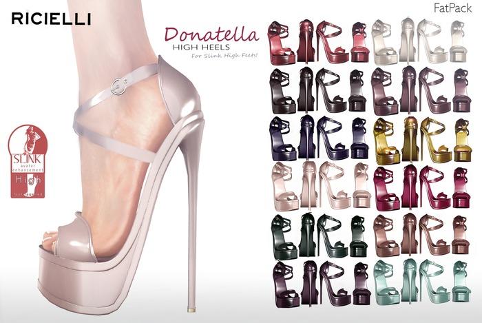 R.icielli - DONATELLA Mesh High Heels for Slink / 16 colors FatPack
