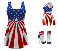 USA FANTASY OUTFIT - FLAG