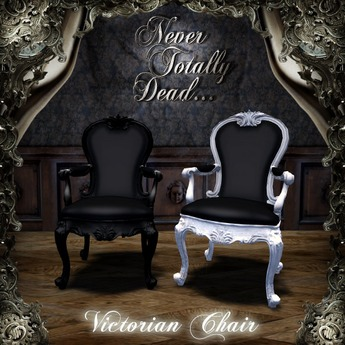 Victorian Chair White & Black