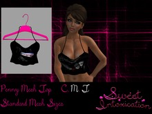 ::Sweet Intoxication:: Penny Mesh Top - Snow White Apple