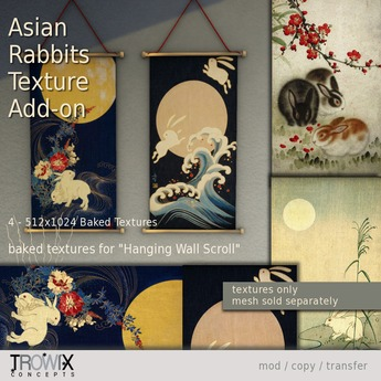 Trowix - Asian Rabbits Texture Add-on