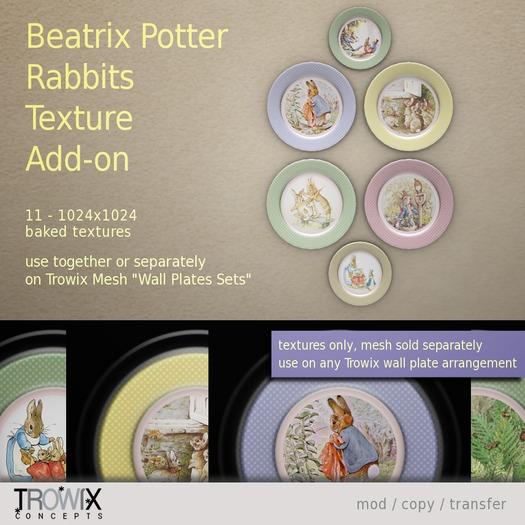 Trowix - Beatrix Potter Rabbits Texture Add-on