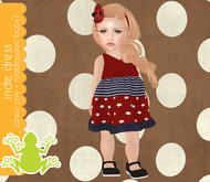 tadpole.~  Inde Dressie [Red w/ Blue] for TODDLEEDOO BABY