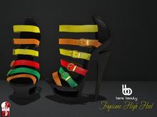 Bens Beauty - Tropicano High Heel black-mix
